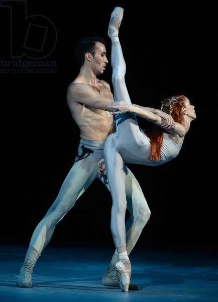 Natalya Kasatkina and Vladimir Vasilyev Yekaterina Berezina, Performance of Igor Stravinsky's ballet 'Rite of Spring', Bolshoi Theatre, Moscow (photo)