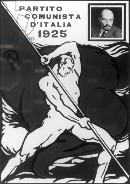 Poster 'Communist Party of Italy', 1925. M. Pichhasze/Sputnik (litho)