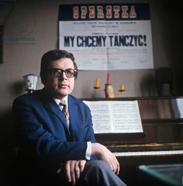 Soviet composer Andrei Petrov, Author of many operas, ballets, instrumental concerts, different pop songs and soundtracks from movies and drama performances, 1971 (photo)
