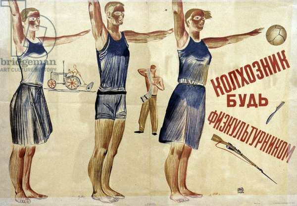 Poster 'Collective Framer, Be A Spotsman', 1930. the Exhibition 'Body's Memory. Underwear of the Soviet Epoch' In the Central House of Authors. Igor Mikhalev/Sputnik (litho)