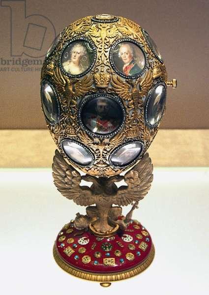 The Romanov Tercentenary Faberge Egg, 1913 (mixed media)