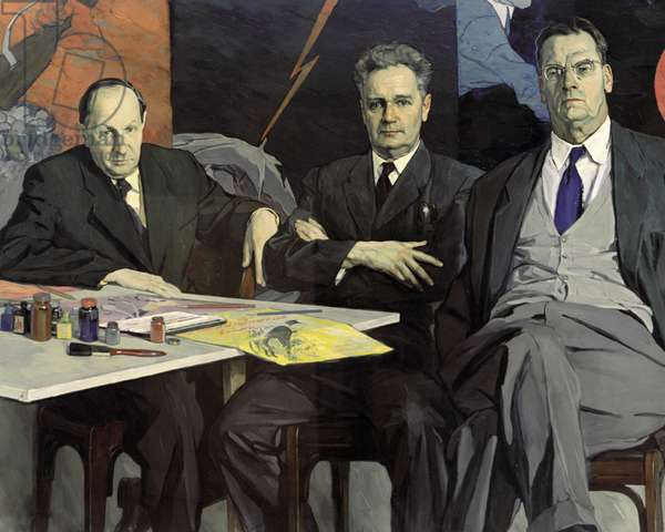 Portrait of the Kukryniksy Painters (oil on canvas)