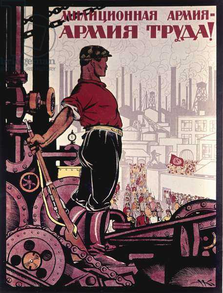 Million Army - Army of Work' Poster, Moscow, 1920 (litho)