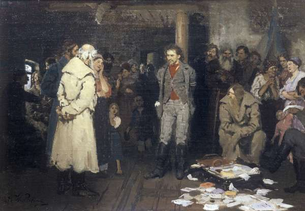 Arrest of a Revolutionary Propagandist (oil on canvas)