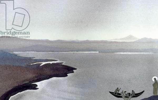 Lake of Gennesaret (oil on canvas)