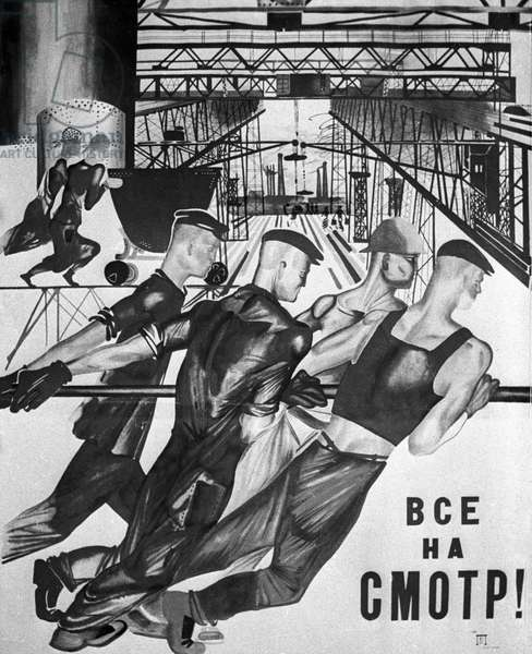 Poster  In the First Years of Soviet Government. Valeriy Shustov/Sputnik (litho)