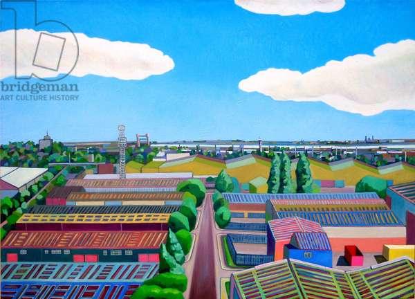Thames Gateway Summer, (oil on canvas)