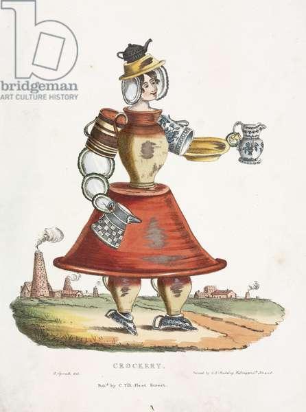 Crockery, c.1831 (colour litho)