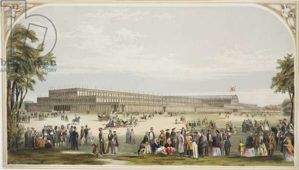 View of the Crystal Palace, Hyde Park, 1851 (colour litho)