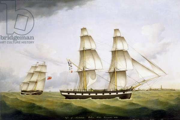 Niger of Sunderland, William Souter Commander, 1852 (oil on canvas)