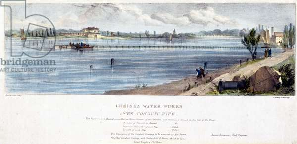 Chelsea Water Works, New Conduit Pipe (colour litho)