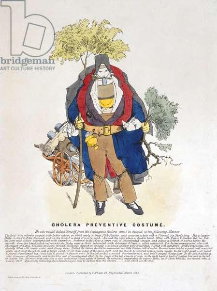Cholera Preventative Costume, March 1832 (colour litho)