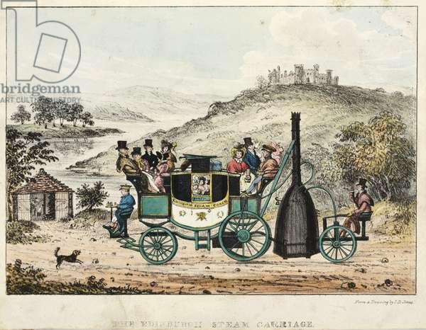 The Edinburgh Steam Carriage (colour litho)