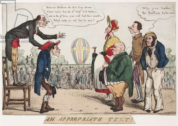 An Appropriate Text, c.1842 (hand coloured engraving)