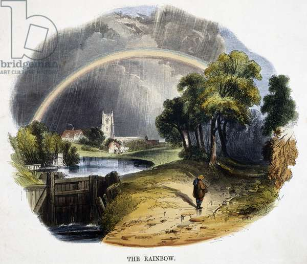 The Rainbow, from 'Phenomena of Nature', 1849 (coloured engraving)