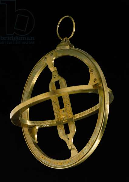Universal equinoctial ring sundial, c.1800 (brass)