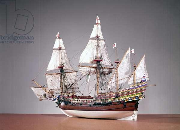 1:48 scale rigged model of the 'Elizabeth Jonas' (wood)