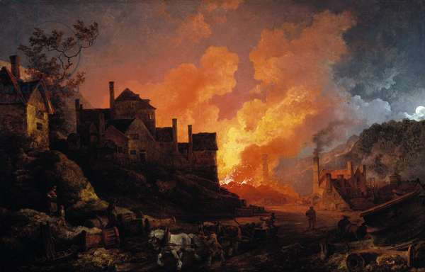 Coalbrookdale by Night, 1801 (oil on canvas)
