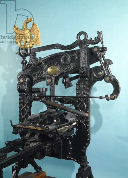 'Columbia' printing press, made by Clymer and Dixon, 1837 (iron) (see also 3200)