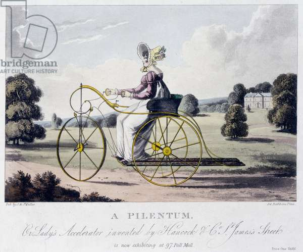 A Pilentum or Lady's Accelerator Invented by Hancock & Co, St. James's Street, c.1820 (coloured aquatint)