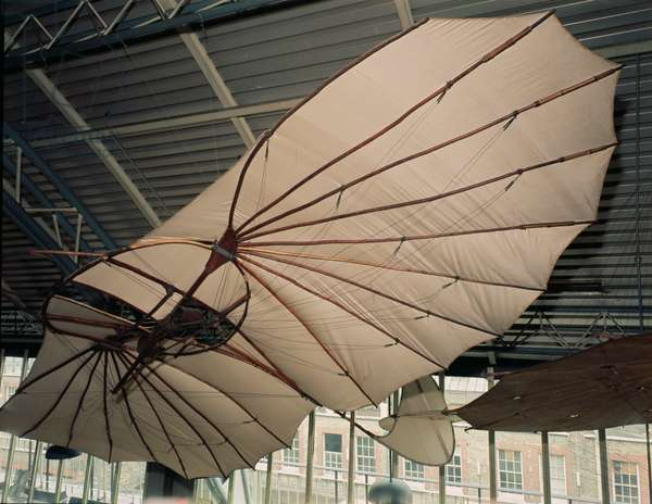 Glider made for Otto Lilienthal (1848-96) c.1891 (wood & cotton) (see also 260936)
