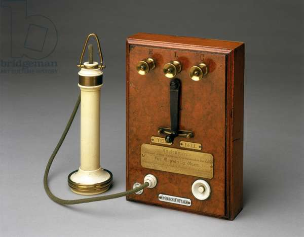 Bell telephone used by Queen Victoria at Osborne House, Isle of Wight, 1877-78 (mixed media)