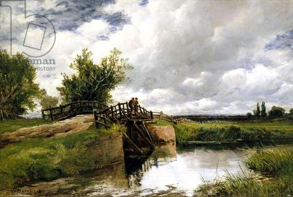 Black Bridge on the Ouse, 1891 (oil on canvas)