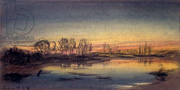 Sunset, May 1884 (pastel on paper)