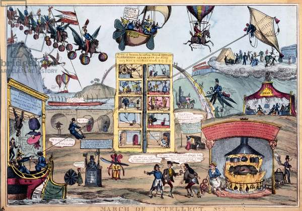 March of Intellect No.2, published by Thomas McLean, c.1827 (coloured etching)