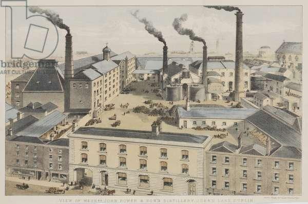 View of Messrs. John Power & Son's Distillery, John's Lane, Dublin, c.1845 (chromolitho)