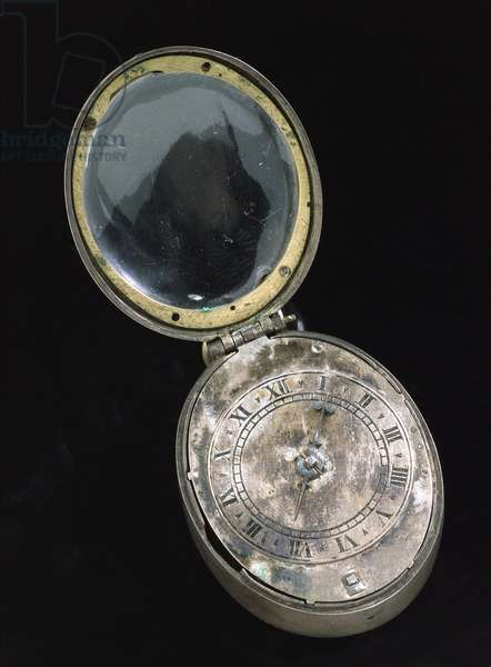 Oval 'Puritan' watch, c.1650 (silver) (see also 259584)