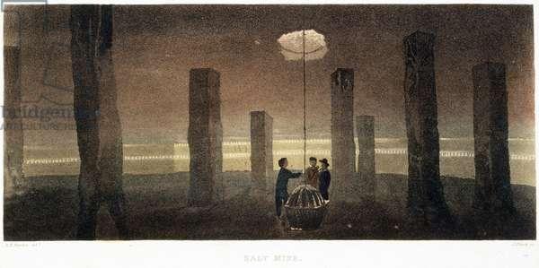 Salt Mine, Cheshire, engraved by J. Bluck, 1814 (coloured aquatint)