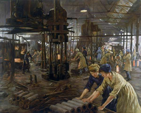 The Munition Girls, 1918 (oil on canvas)