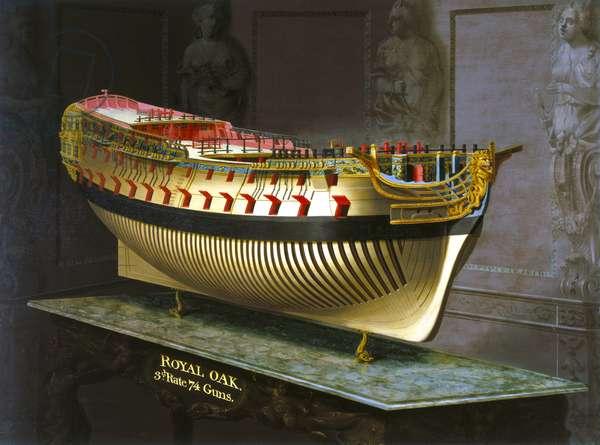 HMS Royal Oak, 1773-75 (oil on canvas)