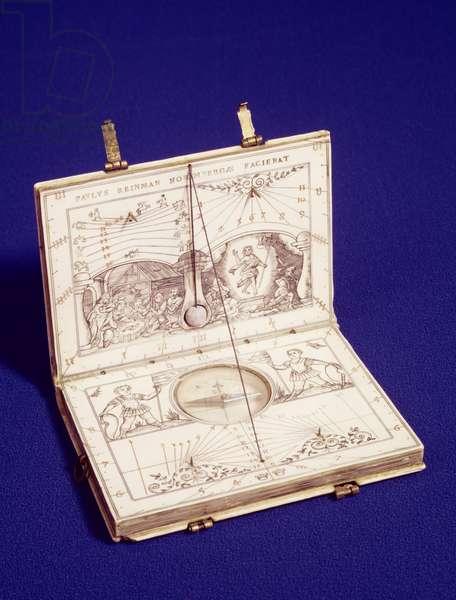 Tablet sundial, c.1599 (ivory)