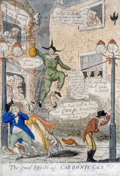 The Good Effects of Carbonic Gas!, 1807 (hand coloured engraving)