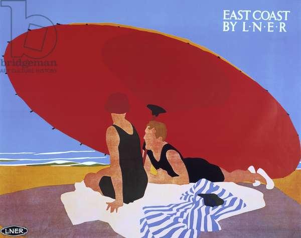 East Coast by L.N.E.R, 1930s (colour litho)