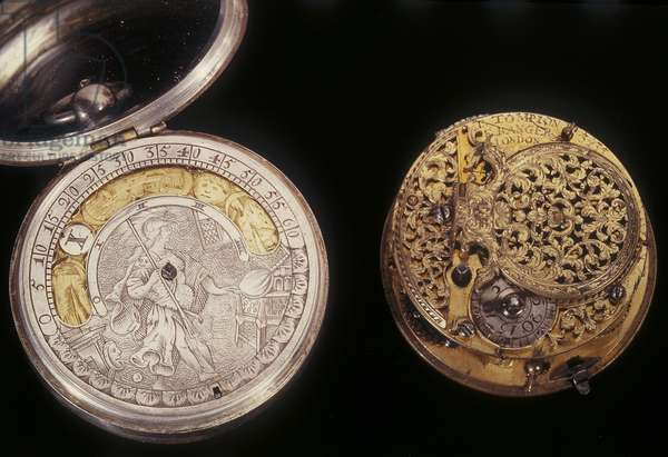 Two pocket watches, c.1660 & c.1705 (metal)
