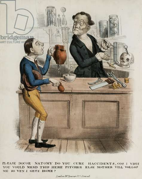 'Please Docor Natomy, Do you Cure Haccidents...', 1830-39 (colour litho)