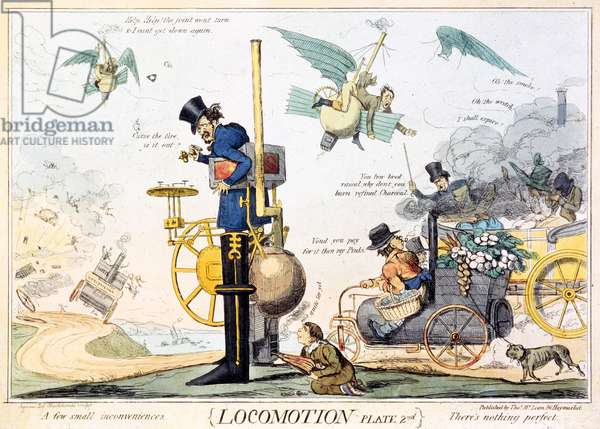 Locomotion, Plate 2nd, published by Thomas McLean, c.1835 (hand coloured engraving)