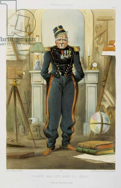 Elderly Soldier, 1864 (colour litho)