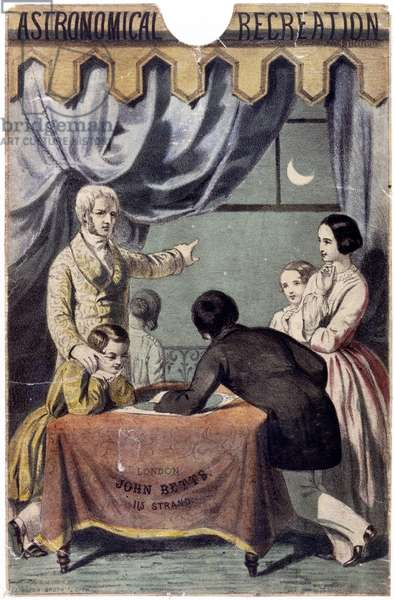 Astronomical Observations, printed by the Leighton Brothers, c.1850 (colour litho)