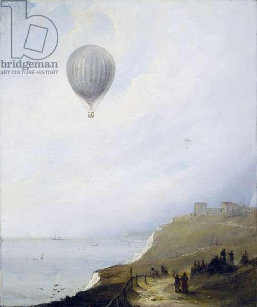 Balloon Over Cliffs, Dover, 1840 (oil on canvas)
