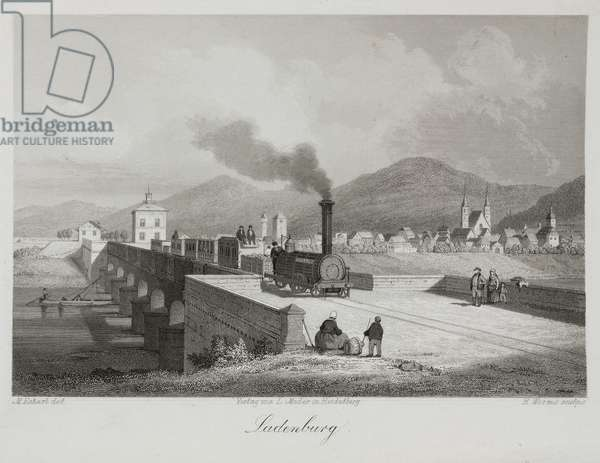 Ladenberg, engraved by H. Worms (engraving)