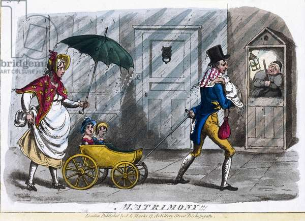 Matrimony!, c.1810 (coloured etching)