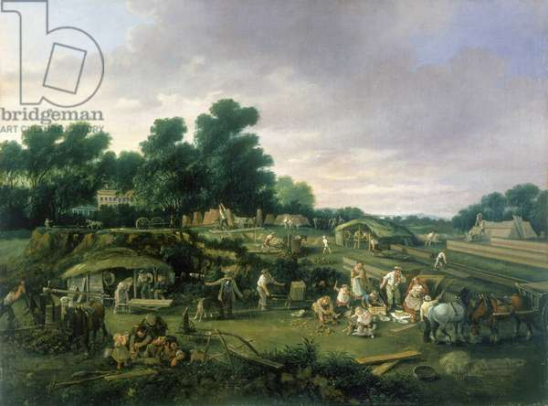 English Country Brickworks, c.1840 (oil on canvas)