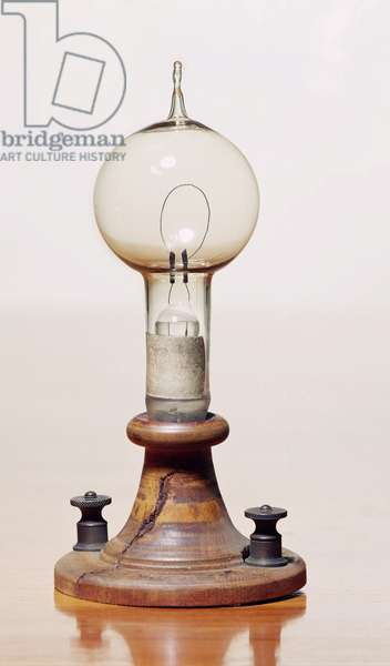Electric filament, 1879 (glass & wood) (see also 259550 & 260230)