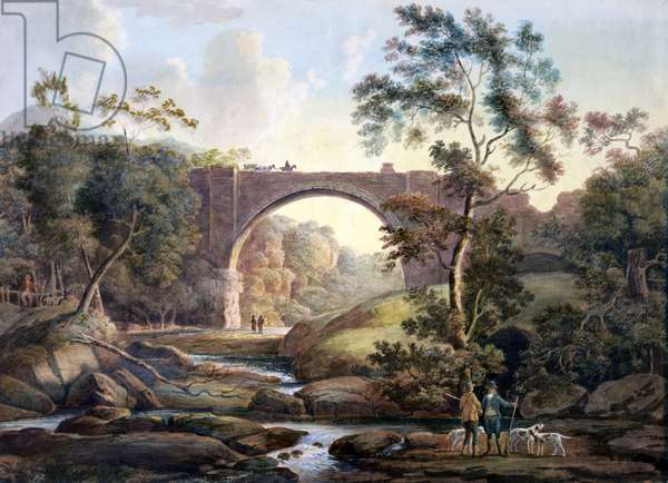 View of Tanfield Arch in the County of Durham, c.1811 (w/c on paper)