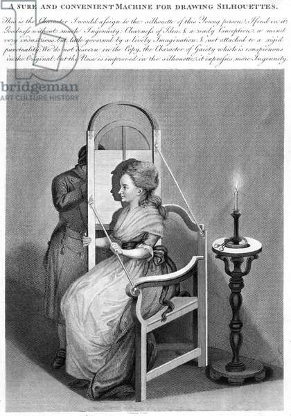 A Sure and Convenient Machine for Drawing Silhouettes, c.1790 (engraving)