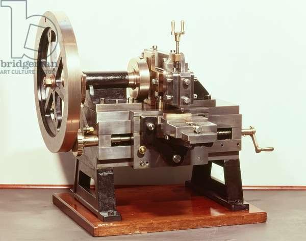 Shaping machine designed by James Nasmyth (1808-90)